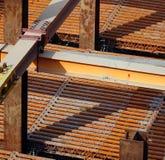 Vigas de aço maciças Foto de Stock