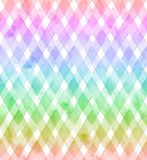 Vigas de cores do arco-íris no fundo branco Teste padrão sem emenda da aquarela para a tela ilustração stock