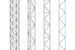 Vigas del acero inconsútil ilustración del vector