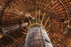 Vigas redondos del granero Fotografía de archivo