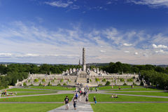 Vigeland雕塑安排, Frogner公园,奥斯陆,挪威 免版税图库摄影