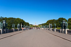 Vigeland centerpiece and alley Stock Image