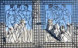 Vigeland gate Stock Photo