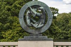 Vigeland Installation in Frogner Park, Oslo. 212 sculptures around the park were all designed by artist Gustav Vigeland. Stock Images