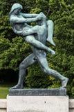 Vigeland Installation in Frogner Park, Oslo. 212 sculptures around the park were all designed by artist Gustav Vigeland. Stock Image