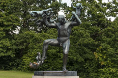 Vigeland Installation in Frogner Park, Oslo. 212 sculptures around the park were all designed by artist Gustav Vigeland. Royalty Free Stock Image