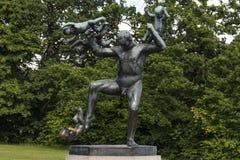 Vigeland Installation in Frogner Park, Oslo. 212 sculptures around the park were all designed by artist Gustav Vigeland. Royalty Free Stock Image