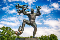 Vigeland Installation in Frogner Park, Oslo. 212 sculptures around the park were all designed by artist Gustav Vigeland. Stock Photos