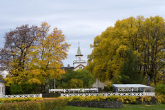 Vigeland park. Autumn view from the Vigeland park in Oslo Stock Image
