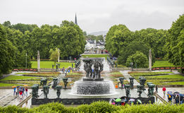 Vigeland Park / Frognerpark Oslo. Norway. Royalty Free Stock Images