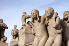 Vigeland Park in Oslo royalty free stock photo