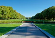 Vigeland park in Oslo during beautiful autumn day Stock Photos