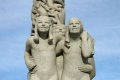 Vigeland Park in Oslo, Norway Stock Photos