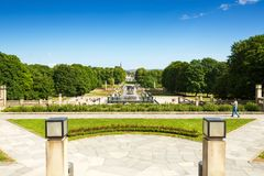 Vigeland park in Oslo royalty free stock photos