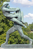Vigeland park, Oslo, Norway, a man carring a woman. Royalty Free Stock Images