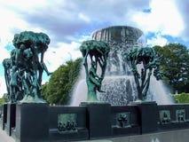 Vigeland Park in Oslo, Norwegen Stockbilder