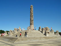 Vigeland park, Oslo, Norwegia obraz royalty free