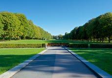 Vigeland-Park in Oslo während des schönen Herbsttages stockfotos