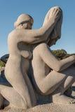 Vigeland park statues grandma and woman Royalty Free Stock Photo