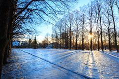 Vigeland park winter Oslo Norway Stock Photo