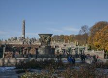 Vigeland rzeźby park - Oslo, Norwegia fotografia stock