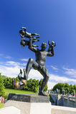 Vigeland rzeźby przygotowania, Frogner park, Oslo, Norwegia Obrazy Royalty Free