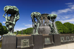Vigeland Sculpture Arrangement, Frogner Park, Oslo, Norway Stock Images