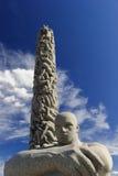 Vigeland Sculpture Arrangement, Frogner Park, Oslo, Norway. The Monolith, Vigeland Sculpture Arrangement, Frogner Park, Oslo, Norway Stock Images
