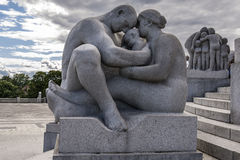 Vigeland Sculpture in Frogner Park in Oslo Royalty Free Stock Photography