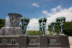 Vigeland sculpture park Royalty Free Stock Image