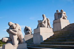 Vigeland Sculpture Park in Oslo  Norway Stock Photos
