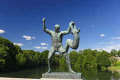 Vigeland-Skulptur-Anordnung, Frogner-Park, Oslo, Norwegen Lizenzfreies Stockbild