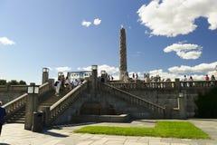 Vigeland-Skulptur-Anordnung, Frogner-Park, Oslo, Norwegen stockfotos