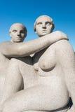 Vigeland skulpturkvinna arkivfoto