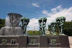 Vigeland skulpturpark royaltyfri bild
