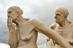 Vigeland Skulpturpark stockfotos