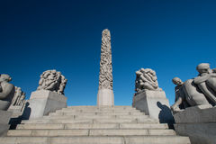 Vigeland statue column Stock Photo
