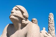 Vigeland statue mother Stock Image