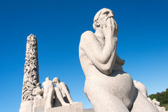 Vigeland statue old woman Royalty Free Stock Image