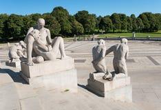 Vigeland-Statuendetail lizenzfreies stockfoto
