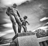 Vigeland Statues in Frogner Park. Oslo, Norway Royalty Free Stock Images
