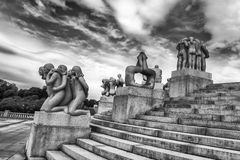 Vigeland Statues in Frogner Park. Oslo, Norway Stock Photo
