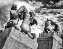 Vigeland Statues in Frogner Park. Oslo, Norway Royalty Free Stock Photography