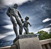 Vigeland statuy w Frogner parku Obrazy Stock