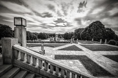 Vigeland statuy w Frogner parku Zdjęcie Royalty Free