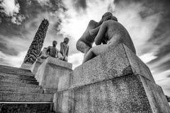 Vigeland statuy w Frogner parku Zdjęcie Stock