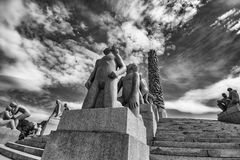 Vigeland statuy w Frogner parku Fotografia Stock