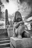 Vigeland statuy w Frogner parku Zdjęcia Stock