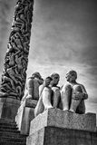 Vigeland statuy w Frogner parku Zdjęcia Royalty Free