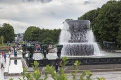 Vigelandpark, de fontein stock foto